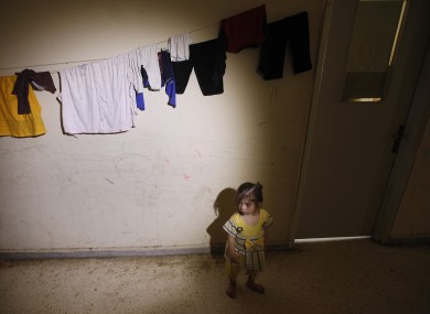 A Syrian refugee girl in the
