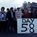 H Block protesters block O'Connell Street in Dublin during the hunger strikes in 1981.   Image: Photocall Ireland