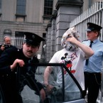 Criminal Boss Martin Cahill, aka The General, leaving the Four Courts in Dublin in July 1988.   Image: Photocall Ireland