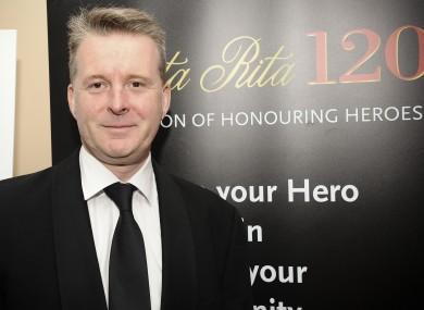 Ross Lewis of Chapter One, winner of Best Restaurant at the Santa Rita Restaurant Awards 2012