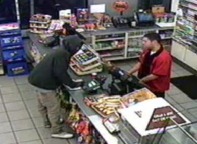 Screengrab of the security video in the convenience store Trayon Martin was in moments before he encountered George Zimmerman