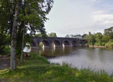 The bridge at Kilrea near where the incident took placeThe bridge at Kilrea near where the incident took place
