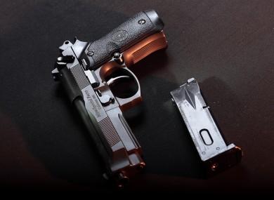 A Beretta handgun...the namesake of baby Breeze Beretta