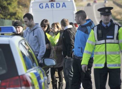 Ciarán Noonan's mother and relatives after his body was discovered in Meath last November.