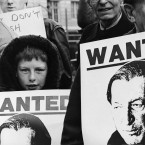 Anti Charles Haughey and extradition pickets opposite the GPO in Dublin in 1989.   Image: Eamonn Farrell/Photocall Ireland