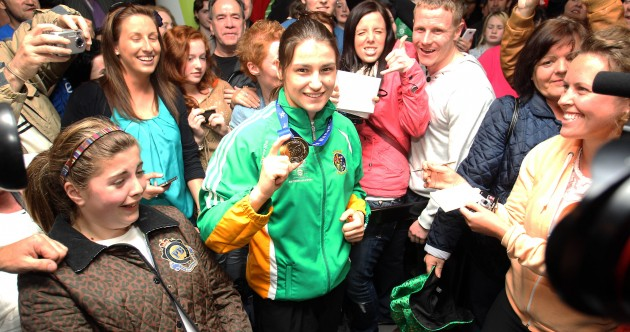 Home is the hero: Katie Taylor touches down in Dublin