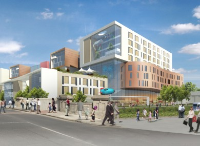The proposed new National Children's Hospital at the St. James's campus