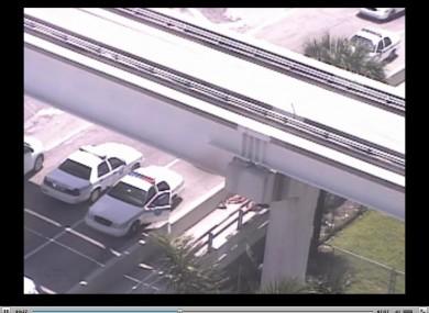 Still from surveillance video capturing attack