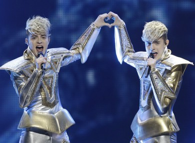Ireland will be represented by Jedward