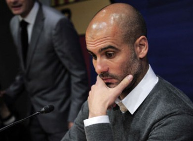 Guardiola will step down as Barcelona manager at the end of the season.