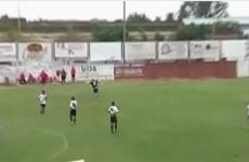 VIDEO: Footballer scores as opposition team celebrates