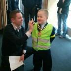 Dylan carrying out some of his mayoral duties