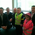 Dylan poses for pic with council members, 'former' Mayor Michael Spike Nolan and TD Matin Heydon.