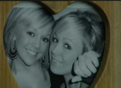 Nicola Furlong with her sister Andrea