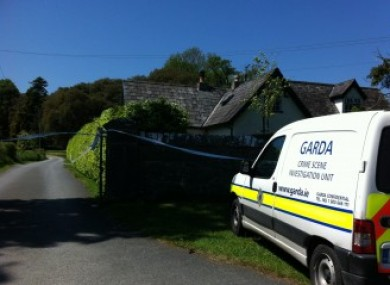 Gardaí outside Siobhan Stapleton's home in Thomastown.