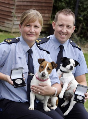 Two of the gardaí given awards yesterday