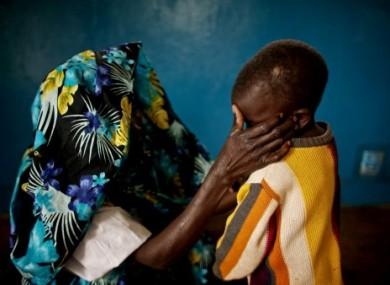 A mass rape victim from Fizi, South Kivu and her