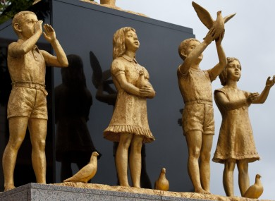Picture posted by statues, not actual children