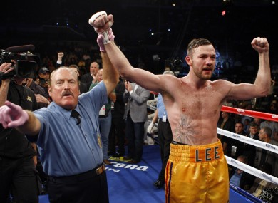 Lee after his win over Brian Vera last October.