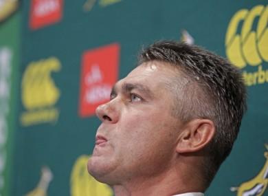 South African Springbok newly elected rugby coach Heyneke Meyer.