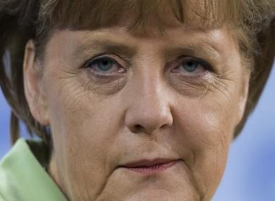 Angela Merkel speaking to the media last week.