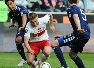 Poland's Jakub Blaszcykowski in action.