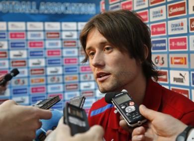 Czech Republic's Tomas Rosicky.