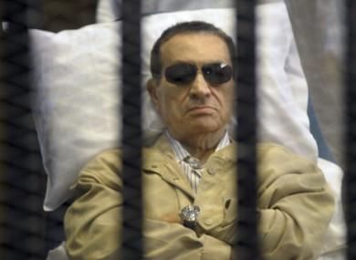 Hosni Mubarak during his trial.