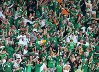 The Ireland fans were in fine voice despite the disappointing result yesterday.