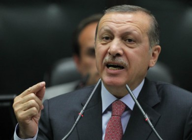 Turkey's Prime Minister Recept Tayyip Erdogan.