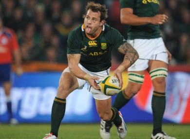 Francois Hougaard will continue at scrum half.