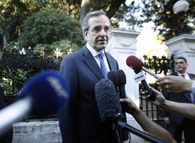 Antonis Samaras yesterday