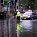 Emergency crew on the scene of the flooding in Hebden Bridge, West Yorkshire today. (John Giles/PA Wire)