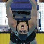 Missy Franklin starts in the women's 100-metre backstroke preliminaries at the US Olympic swimming trials in Omaha, Nebraska. (AP Photo/David J. Phillip)