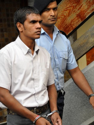 Avinash Treebhoowoon at the Supreme Court in Port Louis, Mauritius earlier this month. The trial is now in its fourth week.