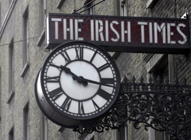 The clock on the former Irish Times offices on D'Olier Street in Dublin (File photo)
