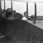1920: Test pilot Thomas Carroll and engineer John W Gus Crowley Jr on board for research at Langley. (NASA Archives)