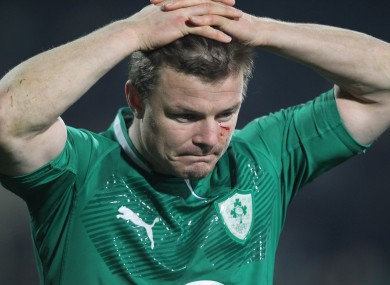 O'Driscoll cast a forlorn figure at full-time in Christchurch.