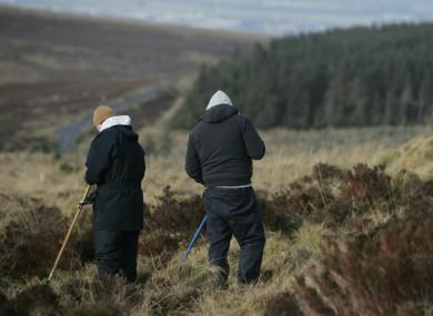 A search team in the Dublin Mountains