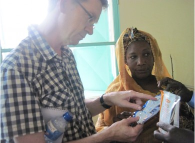 Plan Ireland CEO David Dalton with Sister Marietou, a nurse in Tillaberi hospital in Northwestern niger.
