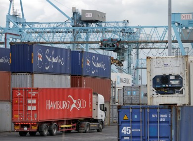 Containers at Dublin Port (File photo)