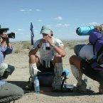 Mark taking a breather in the Gobi Desert