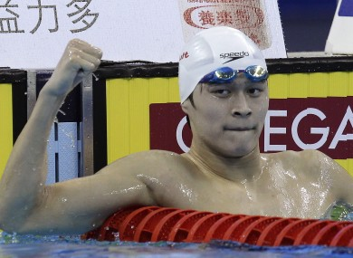 1500 swimmer Sun Yang is one of China's major hopes for gold.