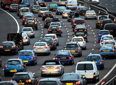 Stock photo: traffic congestion in Bristol, UK