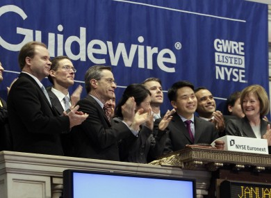 Guidewire began trading on the New York Stock Exchange in January 2012