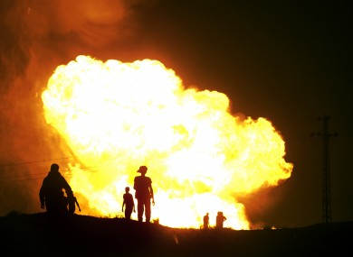 Masked gunmen also blew up a terminal of the Egyptian natural gas pipeline to Israel and Jordan on Tuesday, July 12, 2011 (pic)