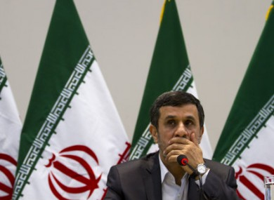 Iran's President Mahmoud Ahmadinejad at a  Rio+20 event last month.