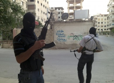 Free Syrian Army fighters in Damascus