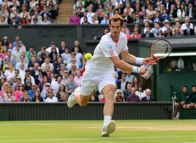 Great Britain's Andy Murray in action against Spain's David Ferrer.