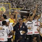 Pure joy captured on the faces of Brazil's Corinthians' team members as they beat Argentina's Boca Juniors in Sao Paulo to win the Copa Libertadores. (AP Photo/Victor R. Caivano)